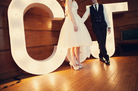 Vintage marquee lights letters for weddings