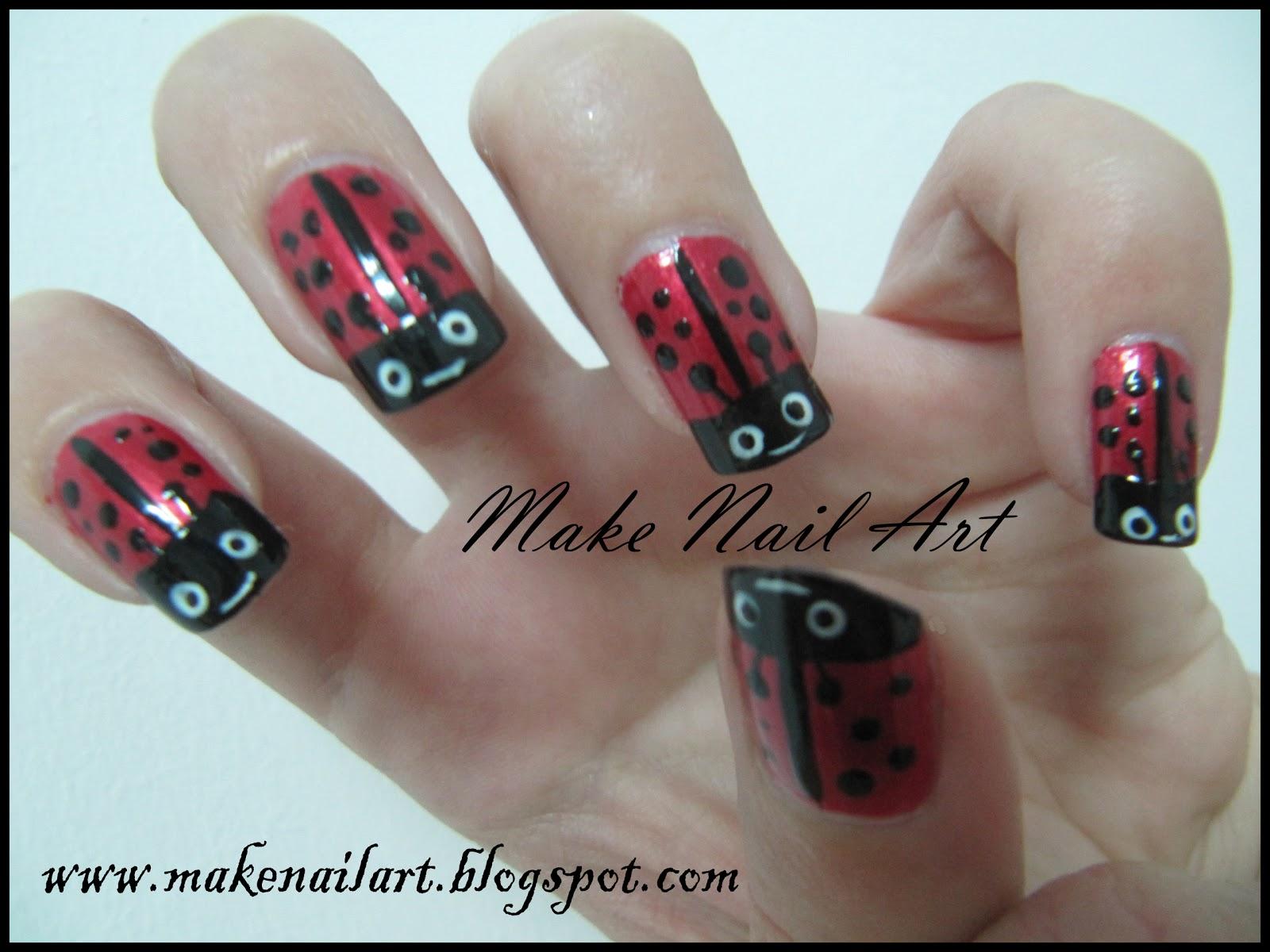 Make Nail Art Ladybug Nail Art Tutorial