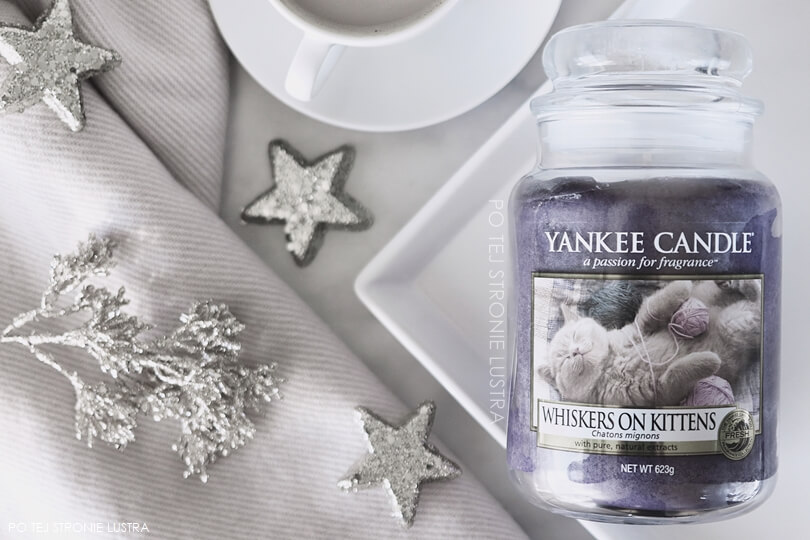 duża świeca whiskers on kittens yankee candle