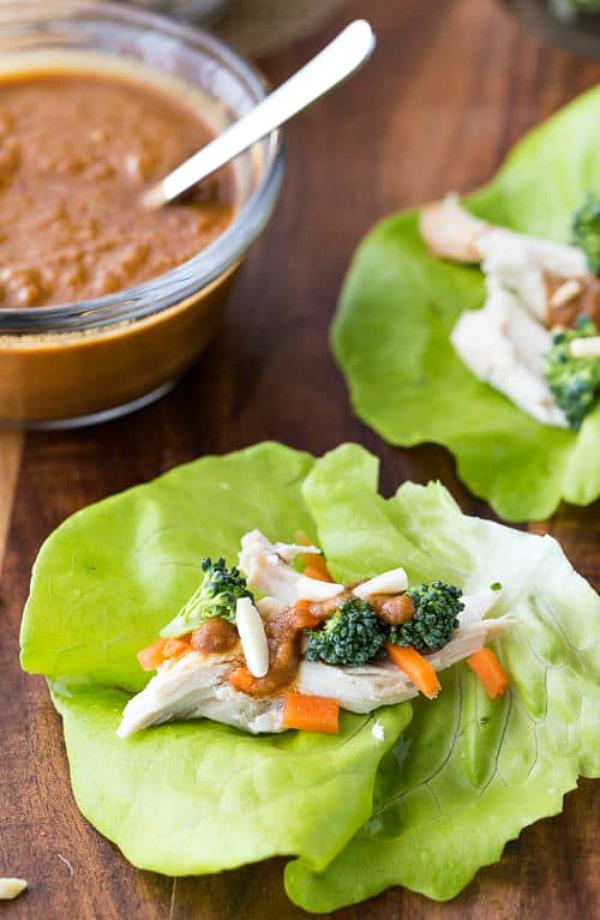 Thai Chicken Lettuce Wraps from The Bewitchin Kitchen