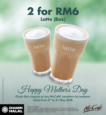McDonald McCafe Latte Deals