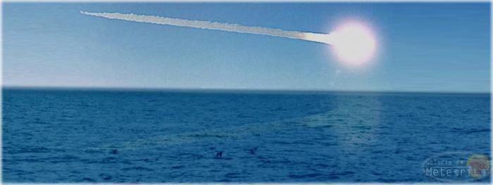 meteoroide atinge a Terra e explode na atmosfera no oceano atlantico - proximo do Brasil