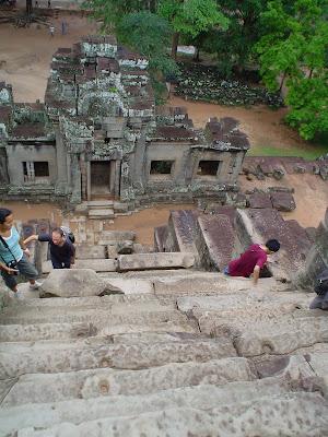 Steep climb Angkor Wat - Cambodia