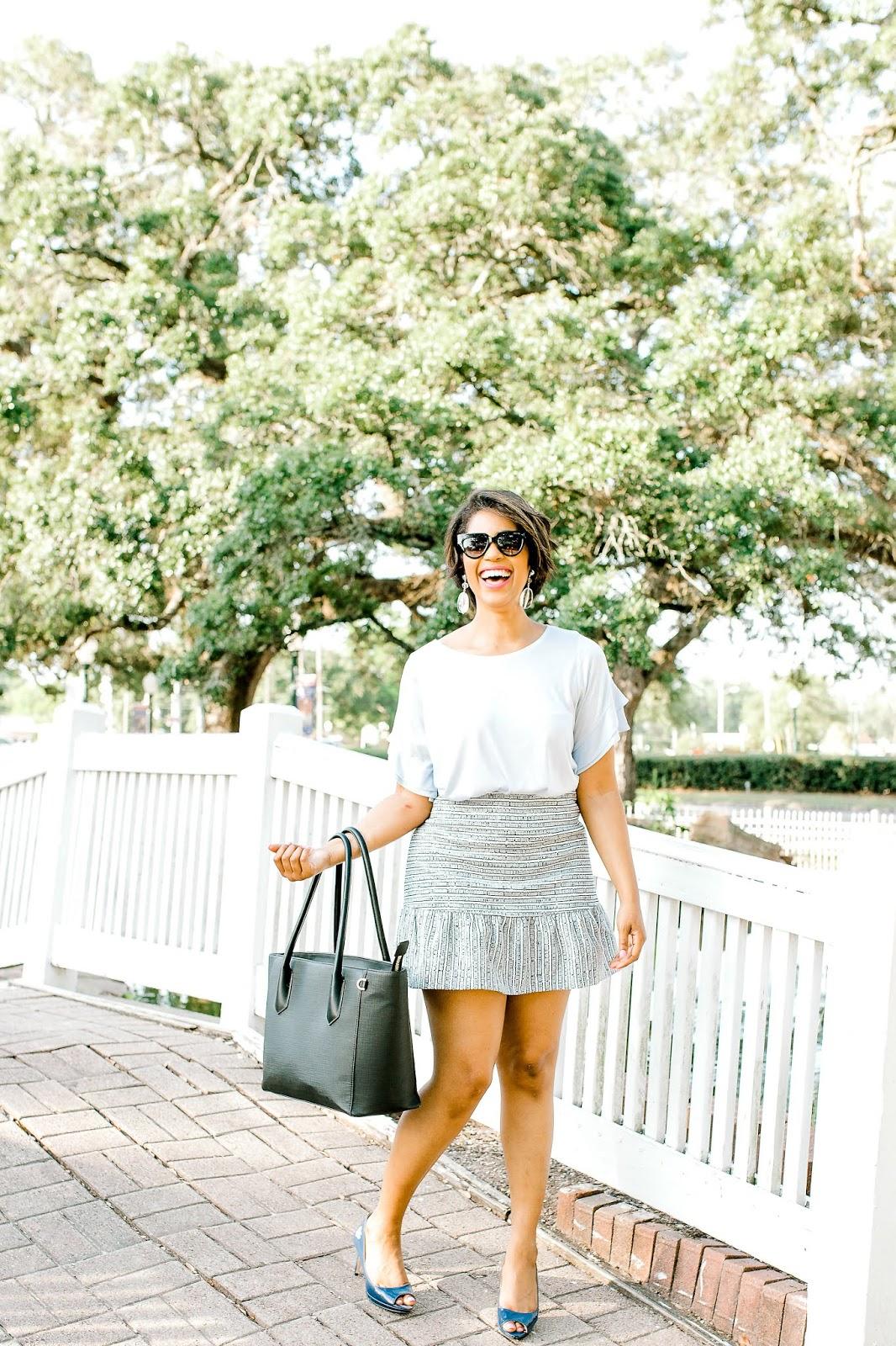 Flounce Skirt for Work