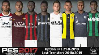 PES 2017 Option File Next Season Patch 2019 v4 Update Summer Transfer 20-8-2018