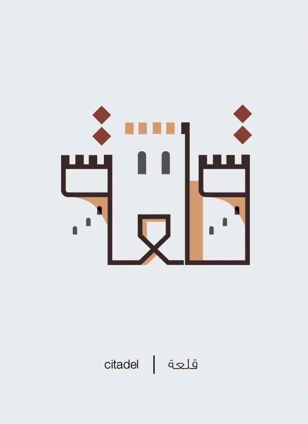 Arabic Words Illustrated Based On Their Literal Meaning - Citadel - Qale'a