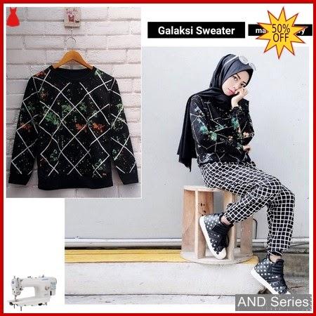AND186 Baju Atasan Wanita Kaos Galaksi Sweaer BMGShop