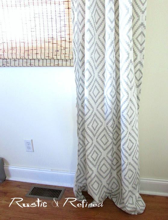 adding new curtains to the Dining Room