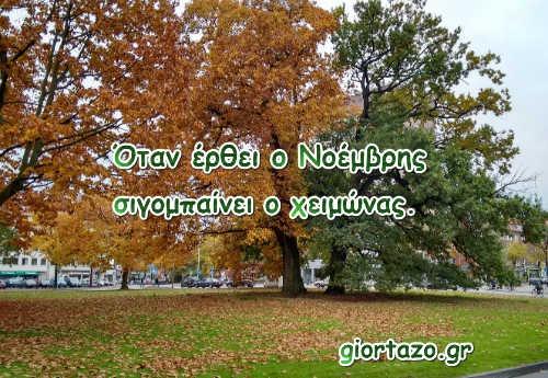 Παροιμίες για τον μήνα Νοέμβριο......giortazo.gr