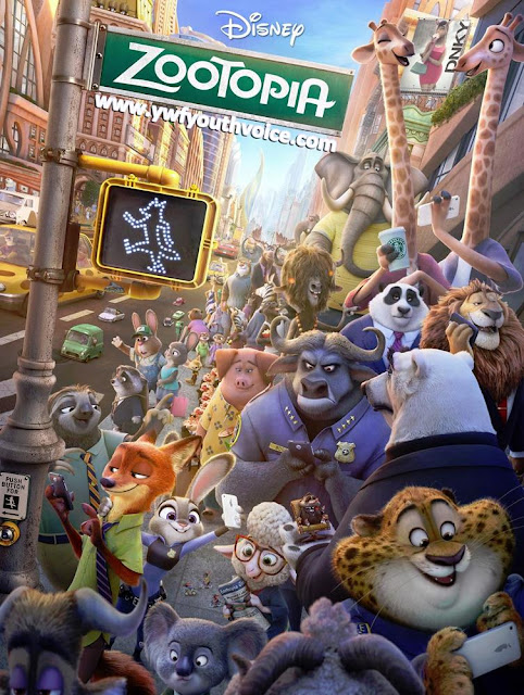 Zootopia Poster showing all the movie characters, Zootopia Full Movie Review