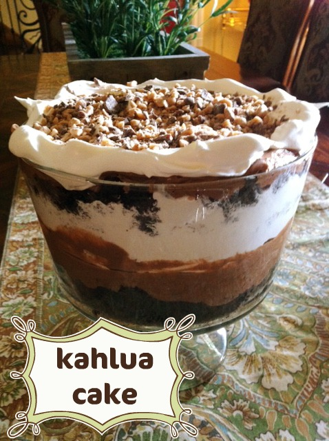 Chocolate Kahlua Cake Calories