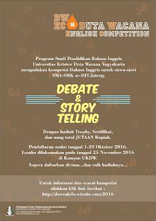 Duta Wacana English Competition se-DIY & Jawa Tengah