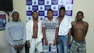 Pai e quatro filhos são presos acusados de matar próprio filho e irmão em Valença