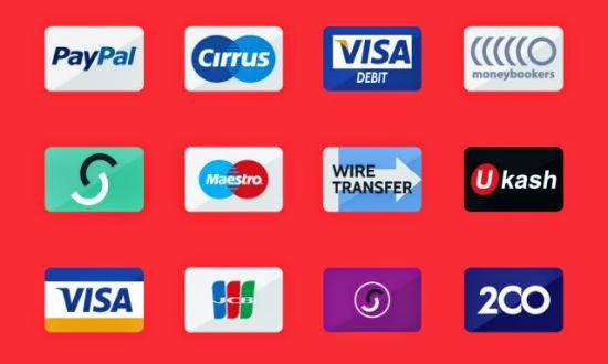 50 Credit Card Flat Icons