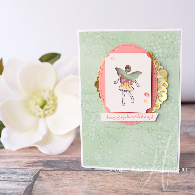 Birthday Card, Fairy Celebration, Fancy Friday, Touches of Texture, Stampin' Up!, Papercraft by Jennifer Frost