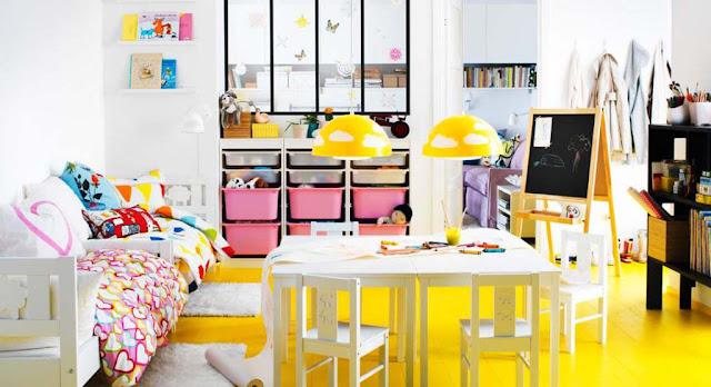 ตกแต่งผนังบ้านเติมความสดใสหลากหลายโทนสี