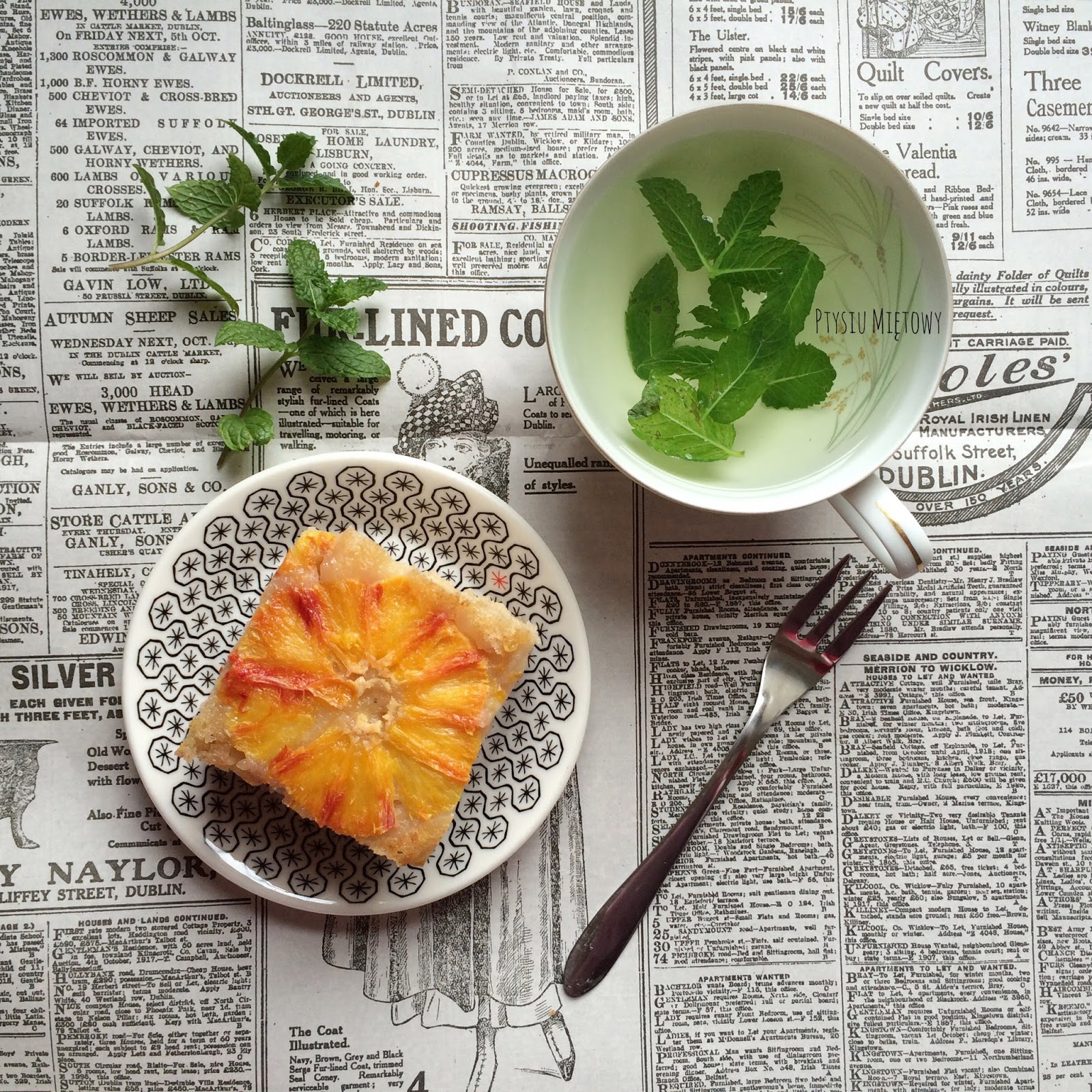 ciasto, ptysiu mietowy