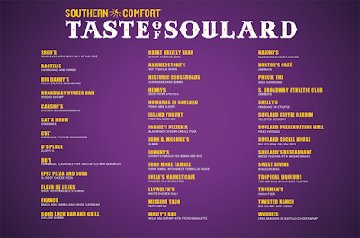 2016 Taste of Soulard menu