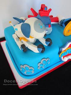 Bolo de aniversário Robo-Dog Patrulha canina