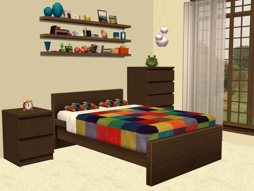 Sims 2 Ikea Malm Bedroom Furniture Recolours