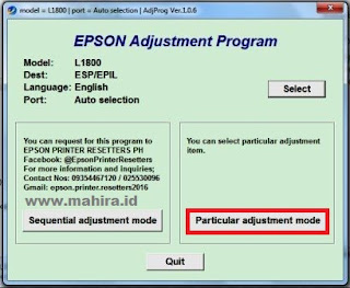 Reset Epson L1800 Printers Service Required