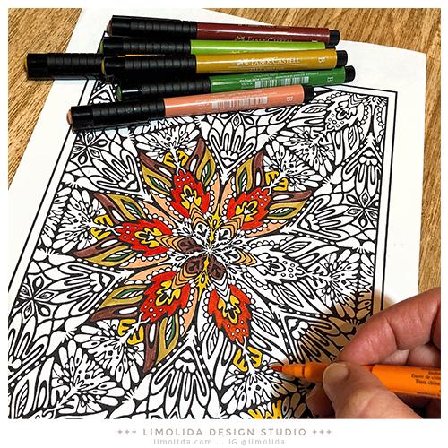 - Limolida Design Studio: Free Adult Coloring Pages- Mandala Coloring Page 1  By Limolida Design Studio