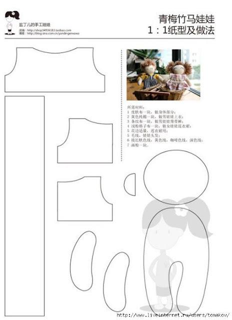 patrón broche muñeca