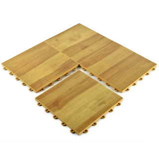 Greatmats ProCourt Gym Flooring Tile wood look vinyl