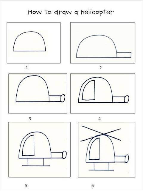 Cara Mudah Menggambar Helikopter Untuk Anak-Anak
