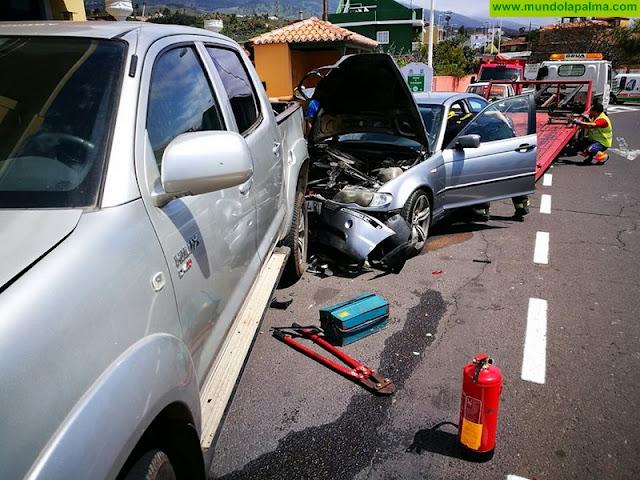 Accidente de varios vehículos en Los Llanos de Aridane
