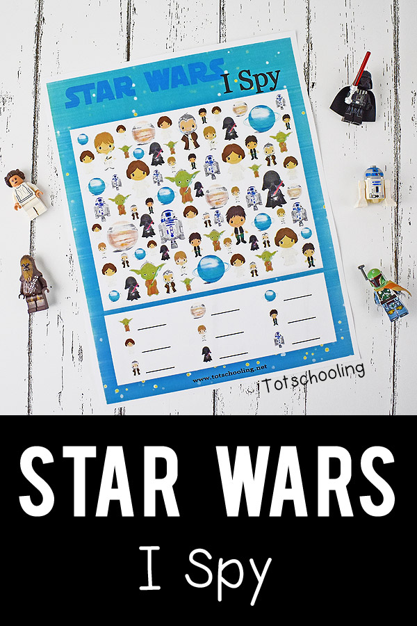 Free Star Wars I Spy Printable | Totschooling - Toddler, Preschool ...