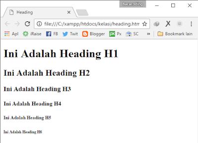 Cara Membuat Judul BAB atau Topik dengan HTML