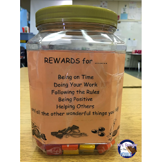 "Students can choose to be rewarded with the ""sure thing"" with a treat from the Reward Jar or take their chances with my boxes!"