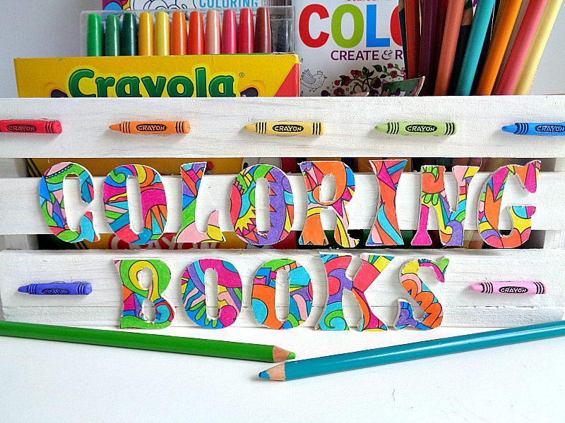 Running With A Glue Gun: 3 Step DIY: Coloring Book Storage