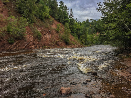 View from the Backpacker's North Campsite on the North Country National Trail - Copper Falls