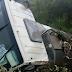 Acidente com caminhão de laticínio é registrado na BR 158 em Laranjeiras do Sul