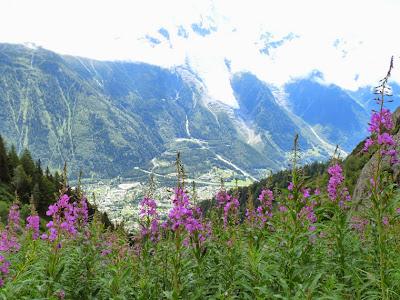 プランプラ Planpraz からシャモニーまでのハイキング