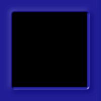 Moldura quadrada azul cobalto  - criação Blog PNG-Free