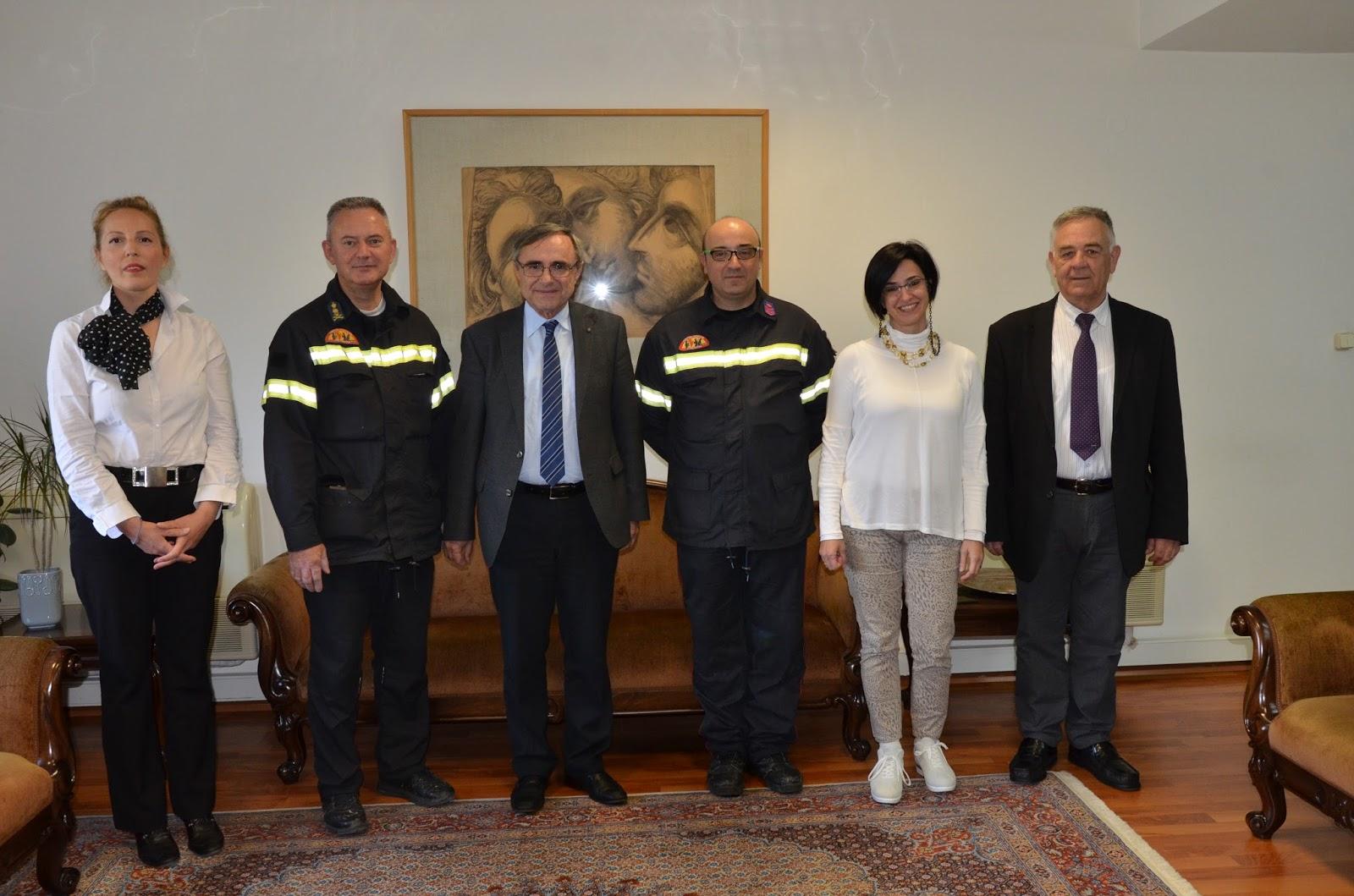 Συνάντηση εργασίας μεταξύ της Διοίκησης του Πανεπιστημίου Ιωαννίνων και της Διοίκησης Πυροσβεστικών Υπηρεσιών Ν. Ιωαννίνων