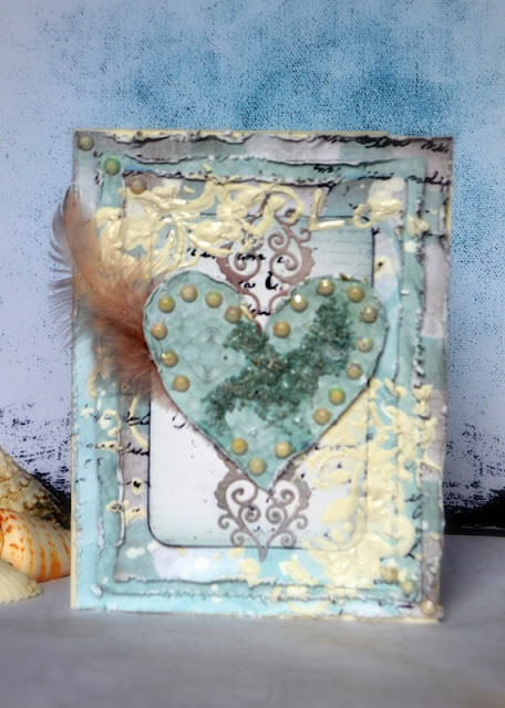 MISSING BEACH CARD BY AGNIESZKA BELLAIDEA MIXED MEDIA 13 ARTS