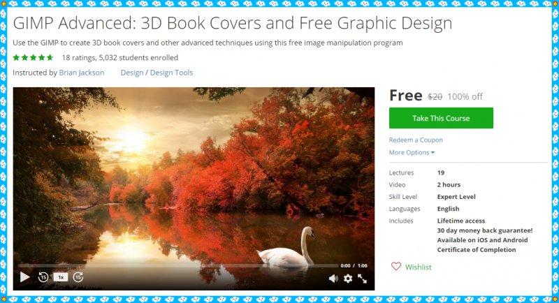 Book Cover Design Using Gimp ~ Free udemy course gimp advanced d book covers