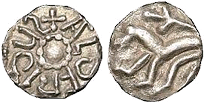Coin of Aldfrith Public Domain via Wikimedia Commons
