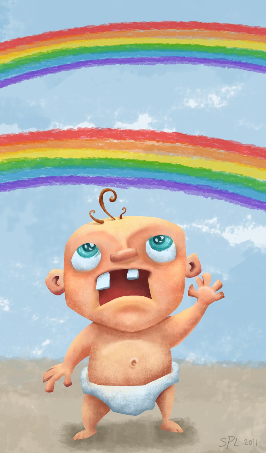 Tiny Art Show: Double Rainbow Baby!!!