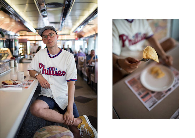 mat buckets uk fashion blogger wearing phillies away baseball shirt mlb cool base jersey in easton PA