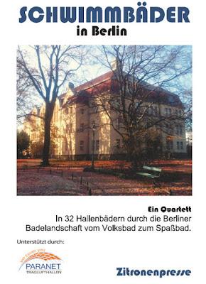 Cover des Quartetts Schwimmbäder in Berlin vom Verlag Dirk Franke / Zitronenpresse mit dem Stadtbad Spandau-Nord als Motiv.