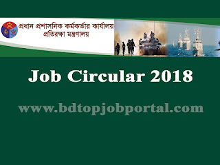 Ministry of Defense Recruitment Circular 2018