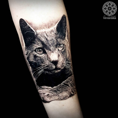 Awesome Cat Tattoos For Girls