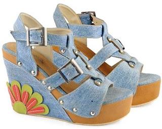 Sandal Wedges Bunga GIARDINO 002