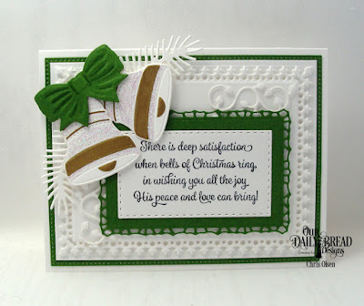 Our Daily Bread Designs Stamp Set: Christmas Card Verses, Custom Dies: Christmas Bells, Pines and Branches, Lavish Layers, Pierced Rectangles, Double Stitched Rectangles, Leaves and Branches