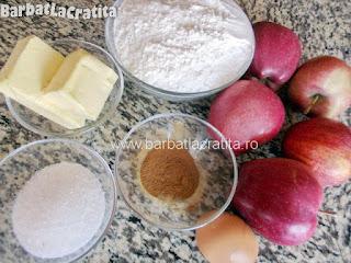 Tarta cu mere ingredientele de care avem nevoie pentru a prepara reteta